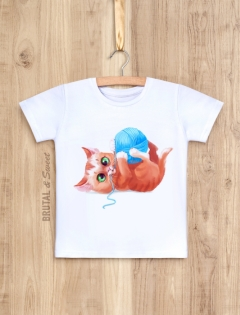 Детская футболка с котёнком «Kitty boy»