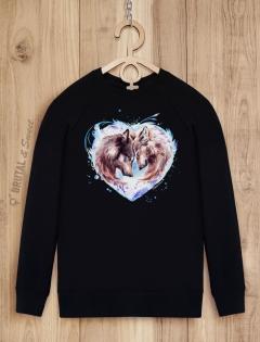 Свитшот с волками «Wolf Love»