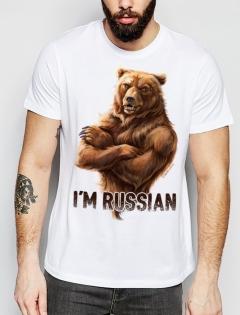 Футболка с медведем «I'm Russian»