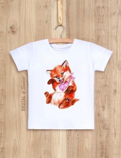 Детская футболка с лисенком «Foxy Kid девочка»