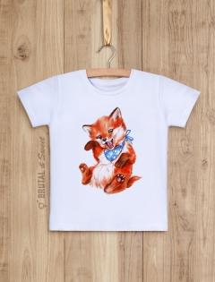 Детская футболка с лисенком «Foxy Kid мальчик»