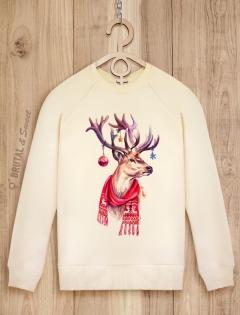 Свитшот женский «Happy Deer»