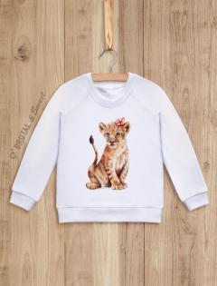 Детский свитшот «Львенок-девочка»