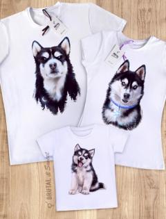Семейные футболки с Хаски «Husky Family»