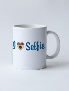 Кружка с рисунком «I love selfie»