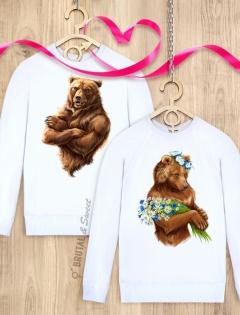 Парные свитшоты с медведями «I'm Russian» и «Lady Bear»